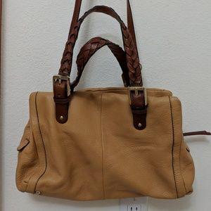 "B. Makowsky ""Yellowish"" Leather Handbag"